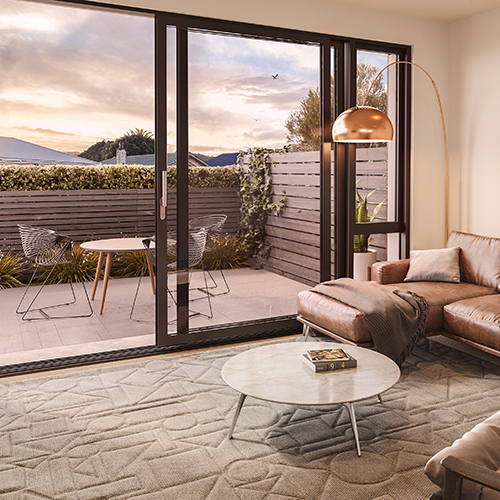 Seaborne Petone Townhouse Unit 29 Courtyard